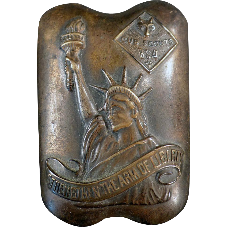 Vintage Cub Scout Neckerchief Slide - Arm of Liberty from ogees on ...