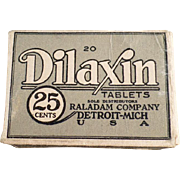 Vintage Dilaxin Laxative Tablets Box