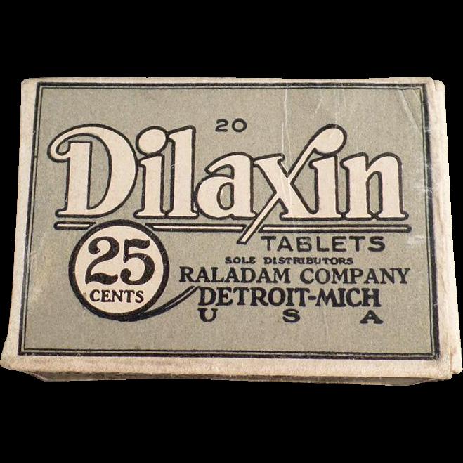 Vintage Dilaxin Laxative Tablets Box
