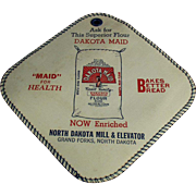 Vintage Advertising Potholder - Dakota Maid Flour- North Dakota Mill and Elevator Co.