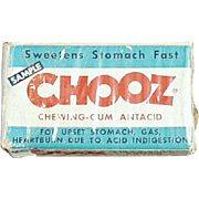 Vintage Chooz Antacid Gum Box - Medical Sample