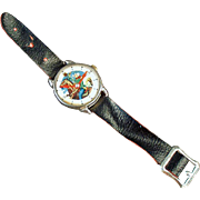 Child's Old Cowboy Wristwatch Toy
