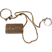 Vintage Watch Fob – 1936 Commemorative – Voiture 102 Forty and Eight - La Madelon V-8 Box Car