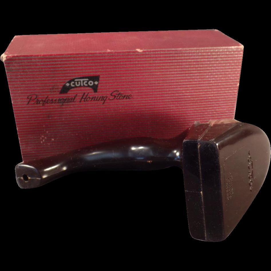 Vintage Cutco Bakelite Knife Sharpener with Original Box