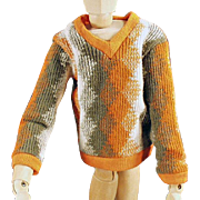 Vintage Knit Sweater for Mattel's Ken Doll - Old Doll Clothes
