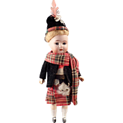 Vintage German Bisque Doll in Original Scottish Outfit – Rauenstein D 7/0