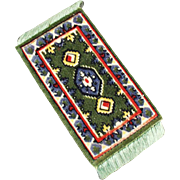 Vintage Miniature Area Rug - Perfect for a Doll House