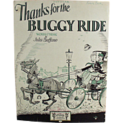 Vintage Sheet Music - Thanks for the Buggy Ride - Nice Graphics