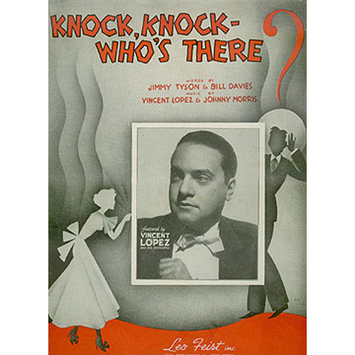 Vintage Sheet Music - Knock, Knock Who's There? - 1936