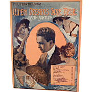 Vintage Sheet Music - When Dreams Come True - Who's the Little Girl
