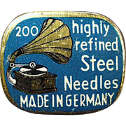 Vintage Phonograph Needle Tin - Highly Refined Steel Needles