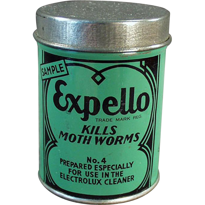 Vintage Expello Sample Tin -  Electrolux Vacuum Cleaner - Nice Graphics