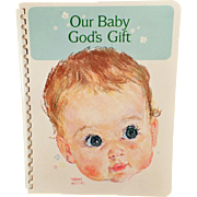 Unused Vintage Baby Book – Our Baby God's Gift – 1966 Baby's Record Book