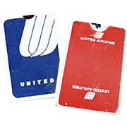 Vintage United Airline Souvenir Playing Cards - 2 Decks with United Airlines Advertising