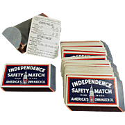 Vintage Advertising Playing Cards - Independence Safety Match Playing Cards