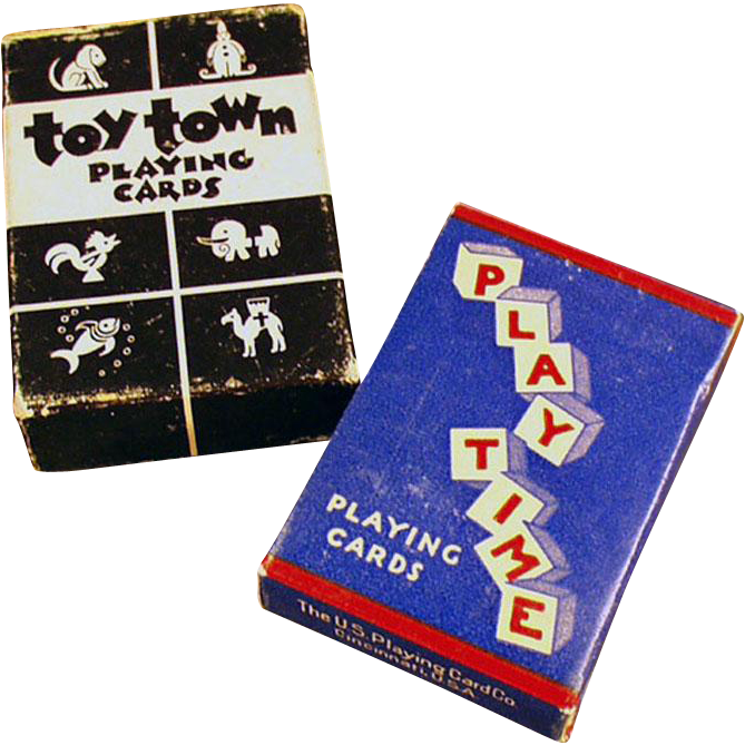 Vintage Miniature Playing Cards - 2 Miniature Decks with Original Boxes