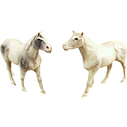 2 Vintage Celluloid Horse Figures - Little Celluloid Toys