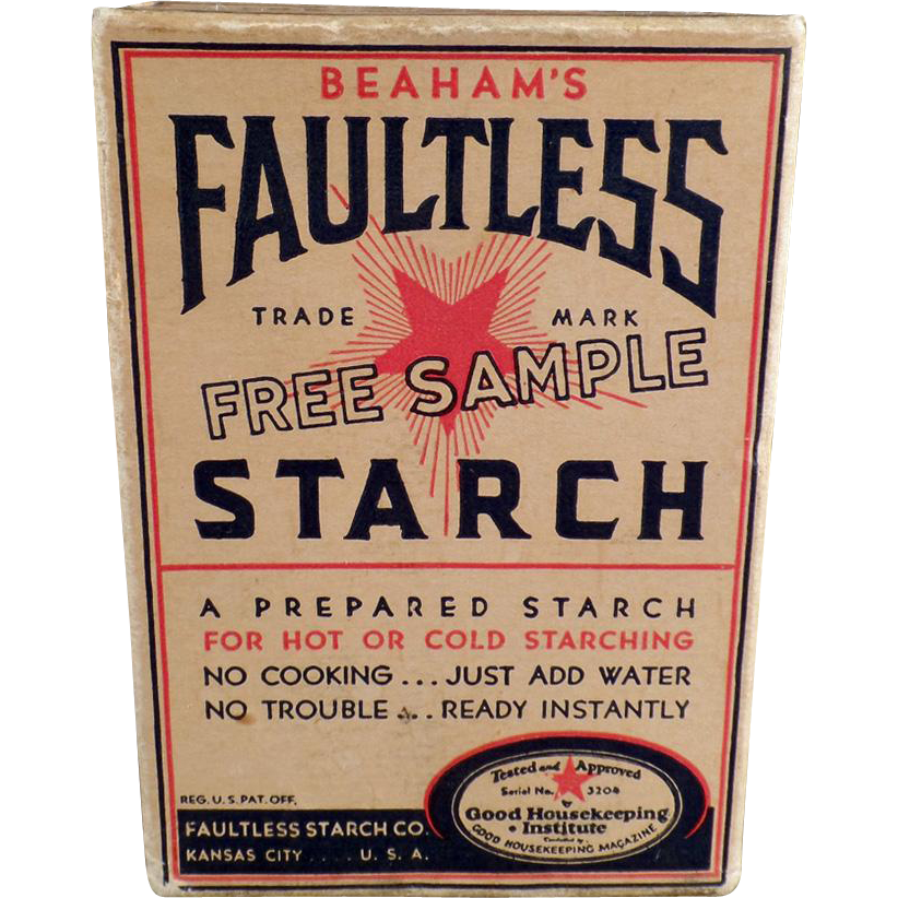Vintage Faultless Starch - Sample Box - Unopened
