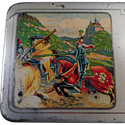 Vintage Pencil Tin -  A.W. Faber Castell - Metal Pencil Box
