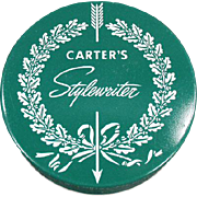Vintage Typewriter Ribbon Tin - Carter's Ink Co. - Stylewriter