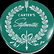 Vintage Typewriter Ribbon Tin - Carter's Ink Co. - Stylewriter