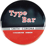 Vintage Typewriter Ribbon Tin - Smith Corona - Type Bar