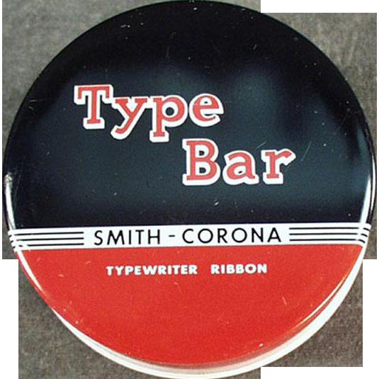 Vintage Typewriter Ribbon Tin - Smith Corona - Type Bar