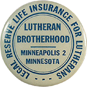 Vintage Celluloid Tape Measure - Lutheran Brotherhood Life Insurance