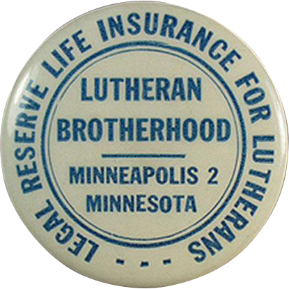 Vintage Celluloid Tape Measure - Lutheran Brotherhood Life Insurance