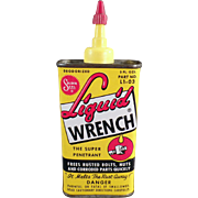 Vintage Liquid Wrench Advertising Tin - Colorful Tin