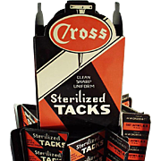 Vintage Store Display - Cross Tacks Counter Top Display Rack - Early 1900's
