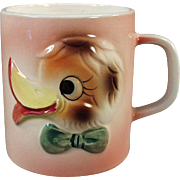 Child's Vintage Milk Cup - Duck Face Design - 1960's Japan