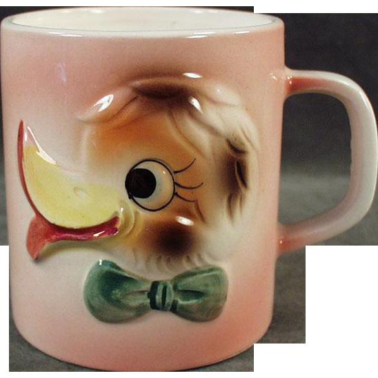 Child's Vintage Milk Cup - Duck Face Design - 1960's Japan