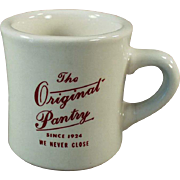 Vintage Restaurant China Advertising The Original Pantry Restaurant in Los Angeles