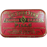 Vintage Medical Tin - Diamond Brand Pills - Chi-Ches-Ters
