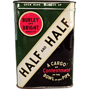 Vintage Tobacco Tin - Half and Half Tobacco