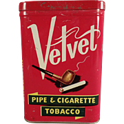 Vintage Tobacco Tin - Velvet Pipe & Cigarette Tobacco Tin
