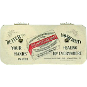 Vintage Celluloid Game Counter -  Disinfectine Soap Advertising