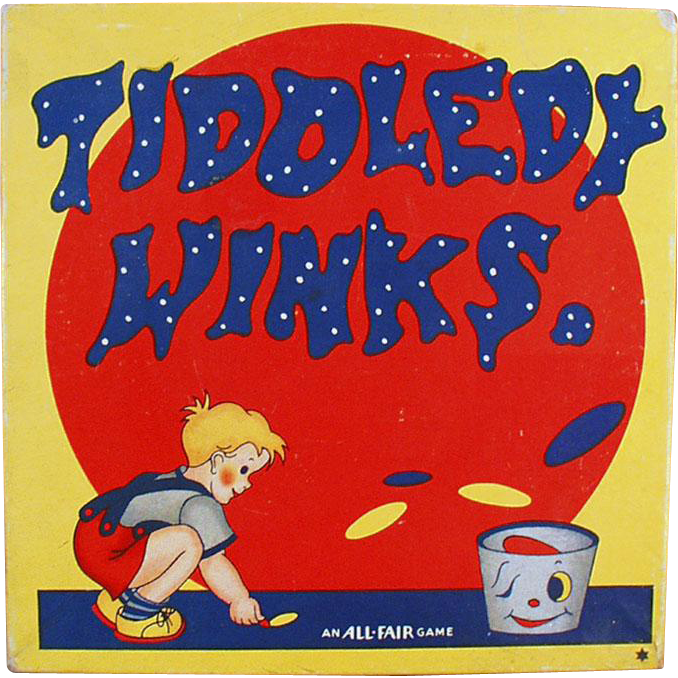 Vintage Tiddledy Winks Game with Original Box - An All-Fair Game