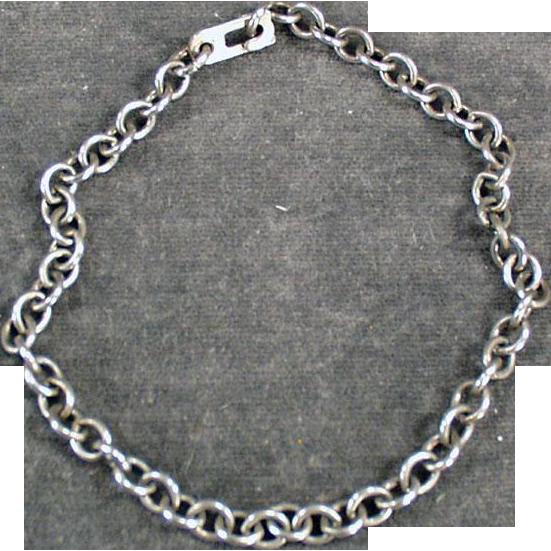 Vintage Little Charm Bracelet Chain - Silver