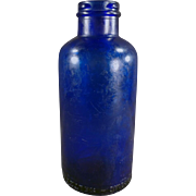 Vintage Bromo-Seltzer Dispensing Bottle - Cobalt Blue