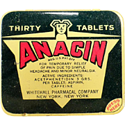 Vintage Anacin Tin - Thirty Tablet Large Size