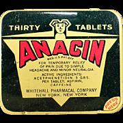 Vintage Anacin Tin - Thirty Tablet Large Size