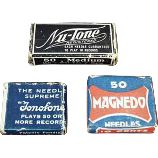 Vintage Steel Phonograph Needles - Assorted Boxes