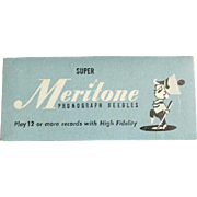 Vintage Steel Phonograph Needles - Meritone 25