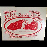 Vintage Pebble Beach Concours d'Elegance 1977 Program