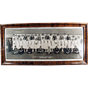 Framed Vintage School Photograph - 1924 - Horrace Mann's Graduating Class - Kansas City