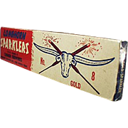 Vintage 4th of July Sparklers Box - Longhorn Fireworks Co. of Fort Worth Texas