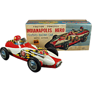 Vintage Ferrari Race Car Toy with Original Box - Indianapolis Hero - Japanese Tin