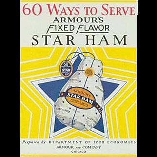 Vintage Recipe Booklet - Armour Ham Advertising Recipe Book